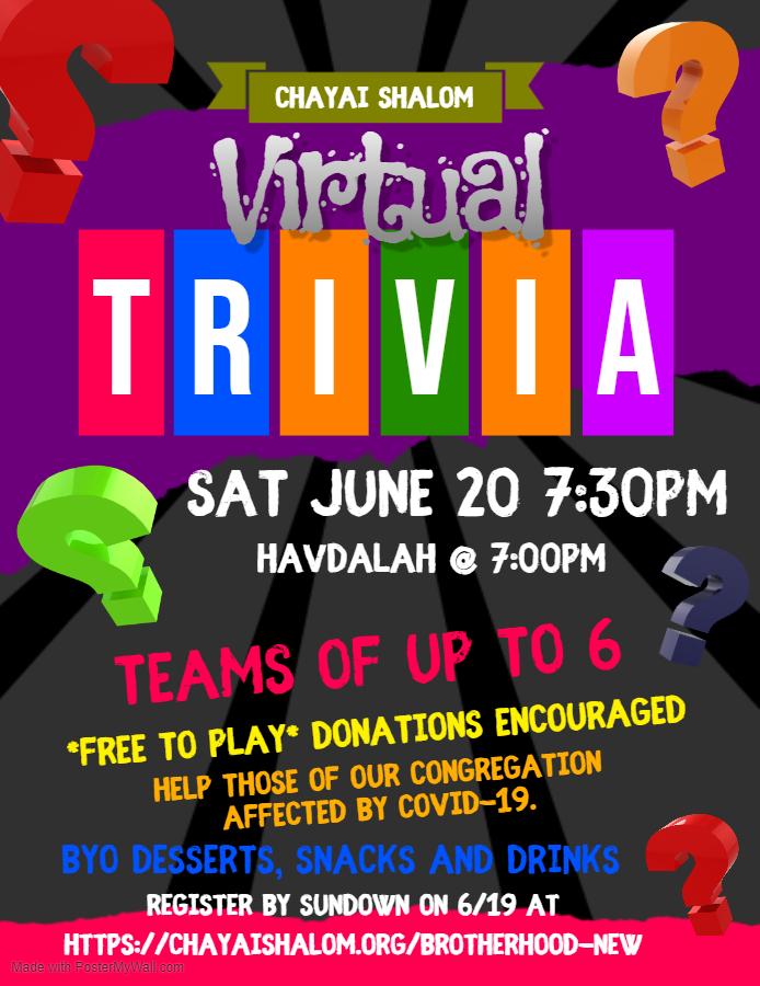 Virtual Trivia Game Night Flyer8